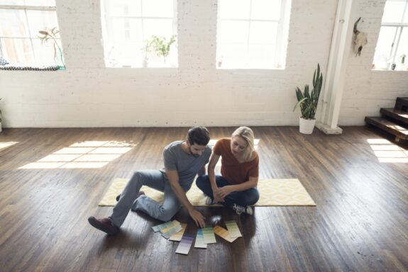 Couple In Empty Home